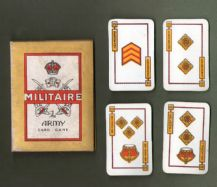 Collectible Vintage Cards game Militaire